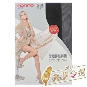 【微笑MIT】non-no/台灣儂儂-全透明超彈性褲襪 7500(6雙/黑)