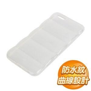 EQ iPhone 6 Plus 半透明毛蟲型手機保護殼~白~