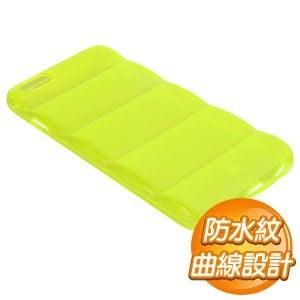 EQ iPhone 6 Plus 半透明毛蟲型手機保護殼~黃~