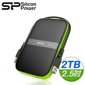 Silicon Power 廣穎 Armor A60 2TB 2.5 吋 USB3.0 行動硬碟