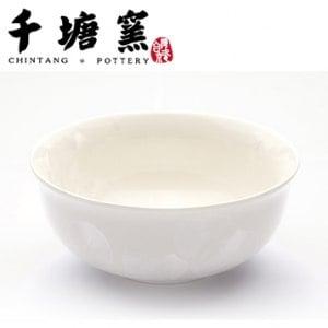 【微笑MIT】千塘窯/台灣京瓷-釉之花絮 情人對碗 2碗+2筷(白)