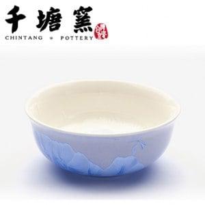 【微笑MIT】千塘窯/台灣京瓷-釉之花絮 情人對碗 2碗+2筷(藍)