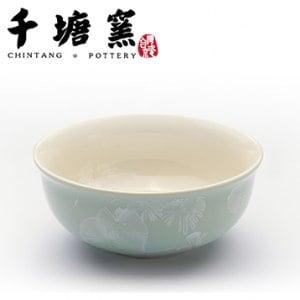 【微笑MIT】千塘窯/台灣京瓷-釉之花絮 情人對碗 2碗+2筷(綠)
