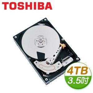 Toshiba 東芝 4TB 3.5吋 7200轉 128M快取 SATA3硬碟(MD04ACA400)
