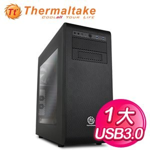 Thermaltake 曜越 Core V31 黑 1大 透側電腦機殼