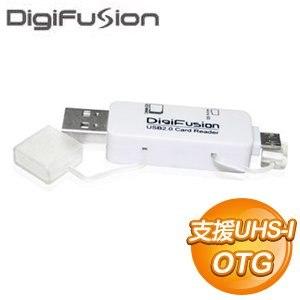 伽利略 MicroUSB/USB OTG讀卡機《白》