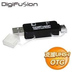 伽利略 MicroUSB/USB OTG讀卡機《黑》
