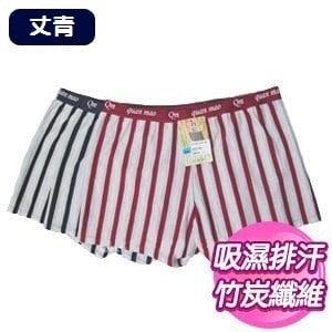 【SKIP四季織】吸濕排汗直條四角褲(丈青)(M/L/XL)