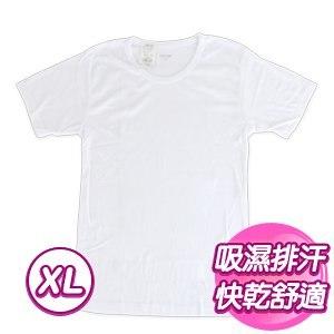 【SKIP四季織】吸濕排汗羅紋短袖(白/XL)