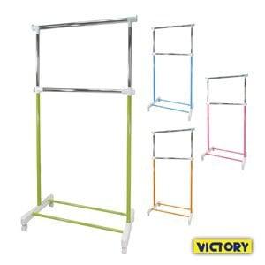 【VICTORY】彩色單桿雙層衣架