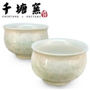 【千塘窯】千塘圓福杯 2入(漸層綠)