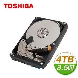 Toshiba 東芝 4TB 3.5吋 128M快取 SATA3 雲端企業硬碟(MC04ACA400E)
