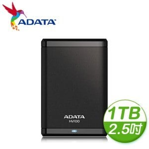 ADATA 威剛 HV100 1TB USB3.0 2.5吋行動硬碟《黑》