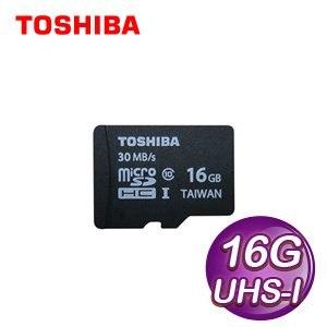 Toshiba 東芝 16G MicroSDHC(CL10) UHS-I 高速記憶卡-無轉卡《代理商公司貨》