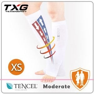 【TXG】露趾機能減壓襪-基礎型 5252131(白/XS)