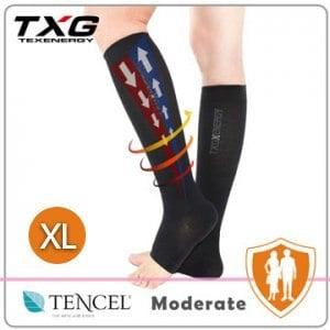 【TXG】露趾機能減壓襪-基礎型 5252335(黑/XL)