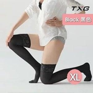 【TXG】蕾絲調整大腿襪-進階型 9363245(黑/XL)