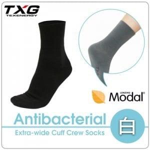 ~TXG~長效性抗菌除臭無痕寬口襪 A8434119^(白 23~27cm^)