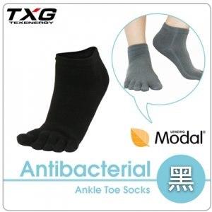 ~TXG~長效性抗菌除臭短筒五趾襪 A7462319^(黑 22~25cm^)