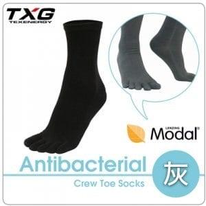 【TXG】長效性抗菌除臭中筒五趾襪 A8436419(3雙/灰/23-27cm)