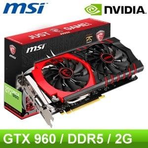 MSI 微星 GTX960 GAMING 2G PCIE 顯示卡《原廠三年保固》
