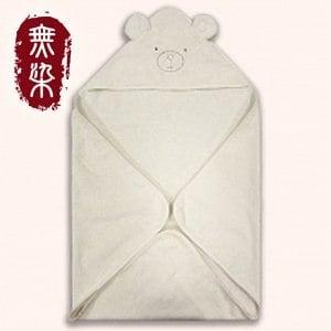 洽維無染糖酸丸BABY熊帽子包巾(75x75cm)