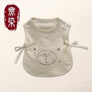 洽維無染糖酸丸BABY二片式熊圍兜(26x31cm)