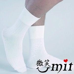 【微笑MIT】Dr.Free/莫妮娜-寬口無痕防臭紳士襪 LB01WH(白)