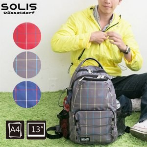 SOLIS〔城市印象 City Impression〕抽繩款電腦後背包 B05002-小《鐵灰》