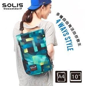 SOLIS〔馬戲團 Circus〕多功能方型背包 B09006《嬉戲藍》