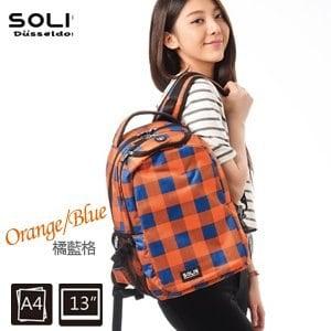 SOLIS〔方塊幻想 Fantasy square〕基本款後背包 B0502011-小《橘藍格》