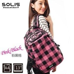 SOLIS〔方塊幻想 Fantasy square〕基本款後背包 B0502010-小《粉黑格》