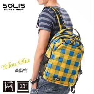 SOLIS〔方塊幻想 Fantasy square〕基本款後背包 B0502012-小《黃藍格》