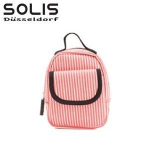 【SOLIS】多功能隨身掛包-經典魅力-粉白條 (OMQ07315)