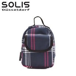 【SOLIS】多功能隨身掛包-經典魅力-黑底紅白線 (OMQ07316)