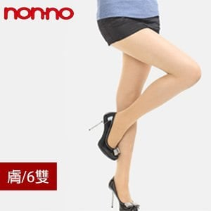 【微笑MIT】non-no/台灣儂儂-三倍耐勾紗褲襪 6500(6雙/膚)