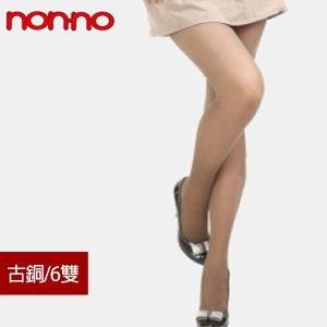 【微笑MIT】non-no/台灣儂儂-三倍耐勾紗褲襪 6500(6雙/古銅)
