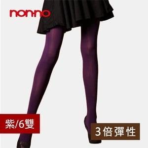 【微笑MIT】non-no/台灣儂儂-三倍彈性厚褲襪 7522(6雙/紫)