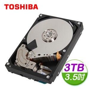 Toshiba 東芝 3TB 3.5吋 128M快取 SATA3 雲端企業硬碟(MC04ACA300E)