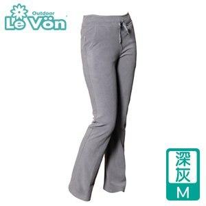 LeVon 女款雙刷毛保暖長褲-深灰M(LV2117-M)