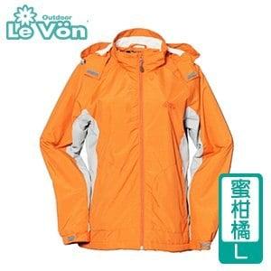 LeVon 女款防風潑水天鵝絨外套-蜜柑橘L(LV3179-L)