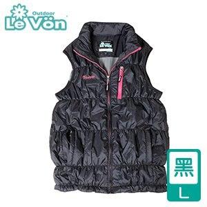 LeVon 女款防潑水抗UV超輕竹炭背心-黑L(LV5340-L)