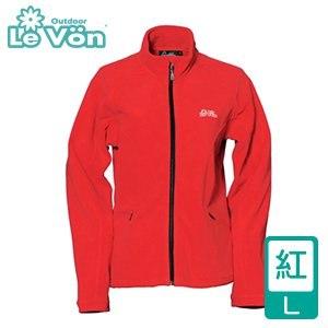 LeVon 女款雙刷毛保暖夾克-紅L(LV3190-L)