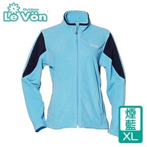 LeVon 女款雙刷毛保暖夾克-煙藍XL(LV3195-XL)