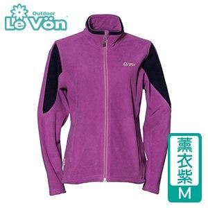LeVon 女款雙刷毛保暖夾克-薰衣紫M(LV3196-M)