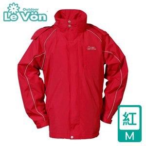 LeVon 男款防風潑水天鵝絨外套-紅M(LV3232-M)