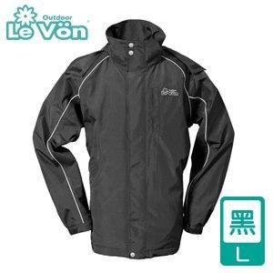 LeVon 男款防風潑水天鵝絨外套-黑L(LV3233-L)