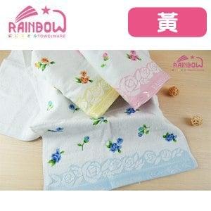 RAINBOW 玫瑰物語剪絨提花毛巾-黃