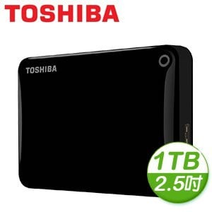 Toshiba 東芝 Canvio Connect II V8 1TB USB3.0 2.5吋行動硬碟《黑》