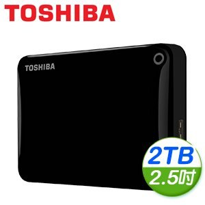 Toshiba 東芝 Canvio Connect II V8 2TB USB3.0 2.5吋行動硬碟《黑》